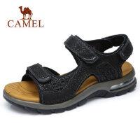 camel 骆驼男鞋2018夏季时尚牛皮凉鞋 轻盈缓震鞋 男士户外旅游运动凉鞋
