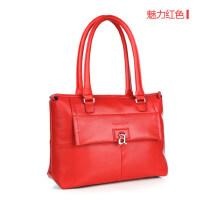 红色复古金属女士迷你包小手提包 新款清新饺子包单肩包女包手提包