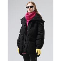 初语羽绒服连帽女冬季新款休闲大口袋潮ins立领保暖加厚外套