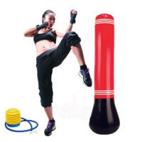 儿童拳击沙袋 立式不倒翁男孩小孩家用室内跆拳道散打训练健身运动发泄充气拳击柱 如图