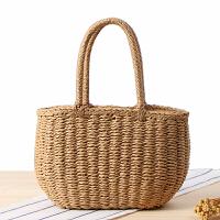 韩版纯手工草编包度假沙滩编织菜篮子女包休闲手提小包
