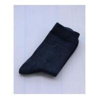 春秋棉袜子男士棉袜商务中厚中筒短袜无骨纯色男袜棉黑色 均码