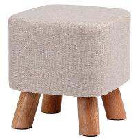 实木换鞋凳时尚家用创意方凳布艺小凳子成人沙发坐凳茶几矮凳板凳