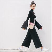 新款时尚草编包女包手提包单肩包拼色包贝壳小包包沙滩包时尚斜跨包