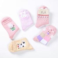 儿童袜子春秋款 女童袜子 男童中筒袜 宝宝小孩立体棉袜