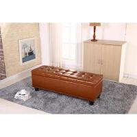 皮艺沙发凳储物凳欧式换鞋凳试鞋凳实木长凳子衣帽间储藏柜收纳凳