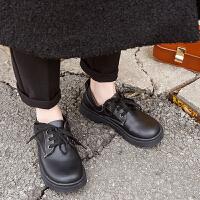 皮鞋 女士英伦风漆皮大头娃娃鞋2019秋季新款韩版时尚女式防滑休闲百搭单鞋女鞋子
