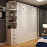 衣柜推拉门现代简约实木组装整体定制欧式家用经济型衣橱柜子卧室