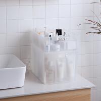 Tenma日本天马可叠加化妆品收纳篮置物篮桌面收纳筐浴室收纳盒子