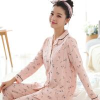 孕妇睡衣产妇家居服套装产后喂奶哺乳衣 月子服春夏季棉