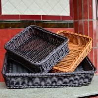 仿藤编织水果篮超市堆头陈列水果盘加厚蔬菜篮子展示筐塑料收纳筐