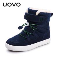 【1件3折价:137元】UOVO新款2020冬季儿童雪地靴男童女童靴子保暖加绒短靴中大童童鞋 萨米尔