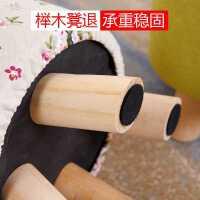创意实木小凳子时尚布艺软凳小板凳家用成人矮凳客厅沙发茶几圆凳