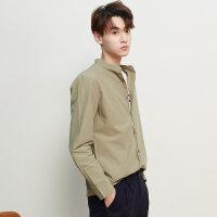 【1件2.5折到手价:41.3】美特斯邦威长袖衬衫男新款春装简约百搭修身纯色休闲衬衣