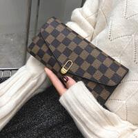 女士手拿钱包2018新款女长款钱包大容量皮夹欧美时尚多卡位零钱包
