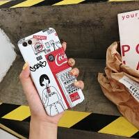 可乐女孩文艺插画华为nova2s手机壳华为p20硅胶防摔p20pro创意荣耀10卡通9华为mate1 nova2s 可