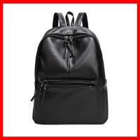 2019新款双肩包潮流时尚女士背包旅行黑色感女包包书包