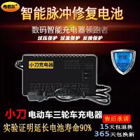 原装小刀电动车电瓶充电器48V12A60V20A64V72V32A30A80V84V96V45A 48V12AH 三孔