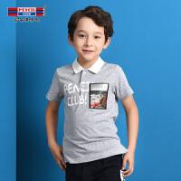 【专区99元3件33】铅笔俱乐部童装2020夏季男童短袖polo衫中大童休闲T恤衬衫儿童T恤