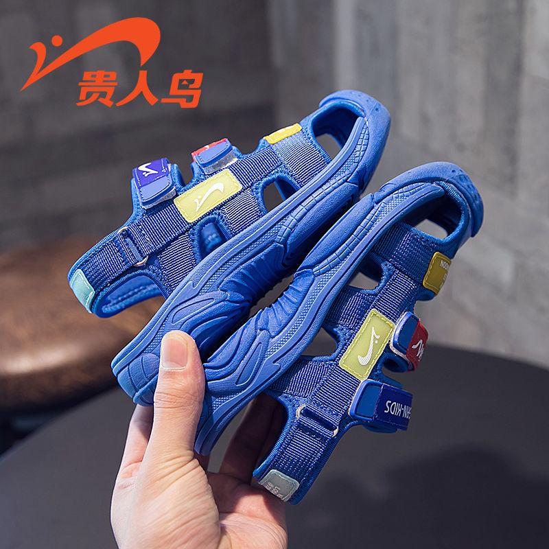 【品牌秒杀:55】贵人鸟男童凉鞋包头2019新款儿童鞋子韩版小孩小童软底夏季女童鞋1