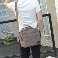 2018新款帆布包单肩包斜跨男士包包斜挎包休闲男包背包横款手提包