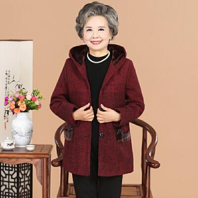 中老年女装毛呢外套奶奶装加绒棉衣妈妈冬装大码上衣  XL(建议 80-105斤) 发货周期:一般在付款后2-90天左右发货,具体发货时间请以与客服商的时间为准