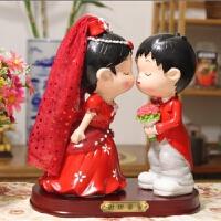 创意结婚礼品*婚庆树脂娃娃新郎新娘公仔新婚礼物家居装饰摆件