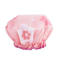 防水浴帽花儿朵朵蕾丝花边沐浴帽 花色