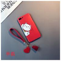 招财猫款iphone6s plus手机壳苹果Xs max情侣7红色新年8软胶XR女6日韩卡通防摔新款