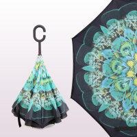【支持礼品卡】反向伞双层长柄伞男女晴雨伞创意大号汽车免持式可站立折叠反骨伞js2