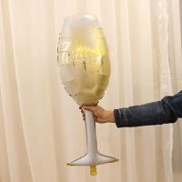 香槟酒瓶酒杯铝膜气球酒吧装饰生日派对布置婚礼装饰派对布置气球