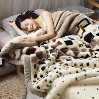 珊瑚毛绒毯子冬季用加厚法兰绒拉舍尔毛毯加绒床单人保暖双层被子 时尚格调 200cmx230cm双层加厚约10斤