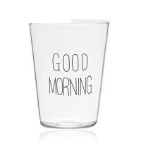 玻璃漱口杯透明刷牙杯洗漱杯情侣套装牙缸水杯子简约耐热日本