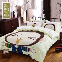 天天纯棉四件套全棉儿童1.8床上用品1.5米卡通被套2.0m双人床