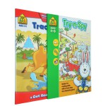 【3-6岁场景练习2册】School Zone Try-N-Spy Tracing Trails 儿童学前迷宫场景游戏