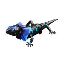 伞蜥蜴遥控玩具感应灯光变色龙动物男孩礼物新奇整蛊吓人恐龙 伞蜥 官方标配