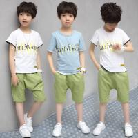 男童夏装新款套装 夏季童装儿童中大童衣服潮童装男
