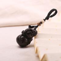 天然木雕高档葫芦钥匙扣汽车钥匙挂件钥匙链男女钥匙链祝福