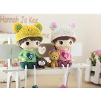 田园家居新房间装饰品小摆件可爱树脂吊脚娃娃创意卧室内人物摆设