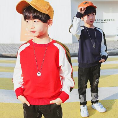 男童卫衣薄款t恤新款春秋装中大童韩版儿童潮装春款男孩上衣
