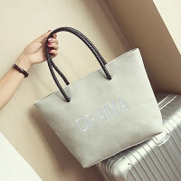 包包女包时尚潮托特包简约韩版手提包时尚休闲单肩大包包 灰色