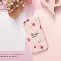 小清新草莓iphone6s手机壳tpu软硅胶苹果7plus/xr/max全包8X磨砂 i6/6s 小草莓与花