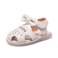 女童宝宝凉鞋1-3岁婴儿鞋夏季儿童包头幼儿软底防滑小童学步鞋潮2