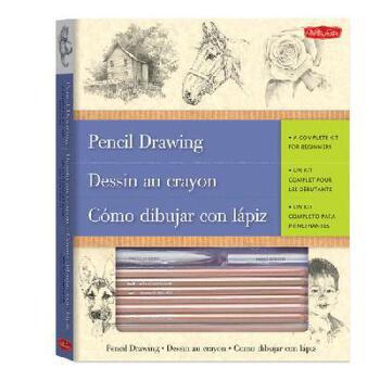 【预订】Pencil Drawing-A Complete Kit for Beginners(trilingual) 美国库房发货,通常付款后3-5周到货!