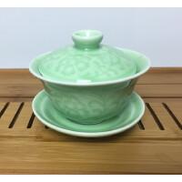 三才杯盖碗茶杯大号茶碗茶壶陶瓷茶具青瓷泡茶器八宝茶汝窑