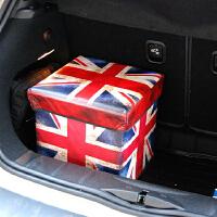 创意汽车储物箱 复古米字旗车用收纳箱 时尚车载后备箱杂物置物箱