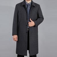 中年男羊毛大衣加厚中老年人爸爸装羊毛呢风衣父中长款加绒外套