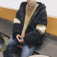 2018新款毛绒外套男冬季学生帅气宽