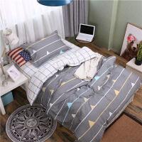 大学生宿舍纯棉三件套上下铺单人床上用品学校被褥被子六件套男女