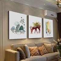 0509060225193现代简约大气墙画餐厅壁画三联画北欧客厅装饰画沙发背景墙挂画 40*50 整套价格 25mm布